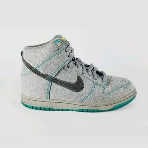 Nike 6.0 Dunk High Fleece 09' sz 7 Grey/Teal